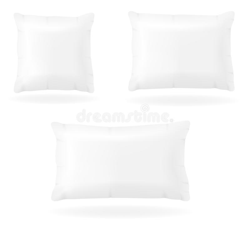 White pillow to sleep vector illustration. On background royalty free illustration