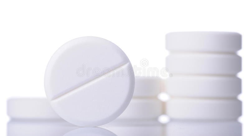 White pills royalty free stock images