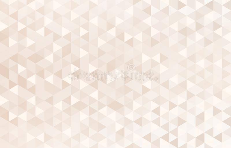 White pink beige bright mosaic triangles pattern. Pastel geometric background. royalty free illustration