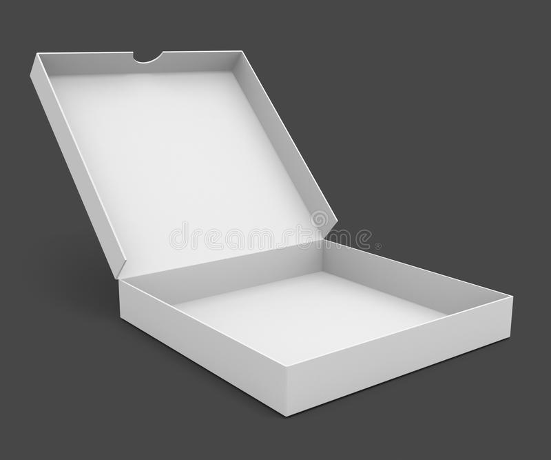 White pizza packaging box royalty free illustration
