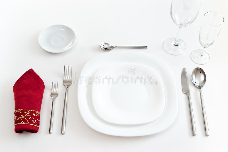 White place setting royalty free stock photography