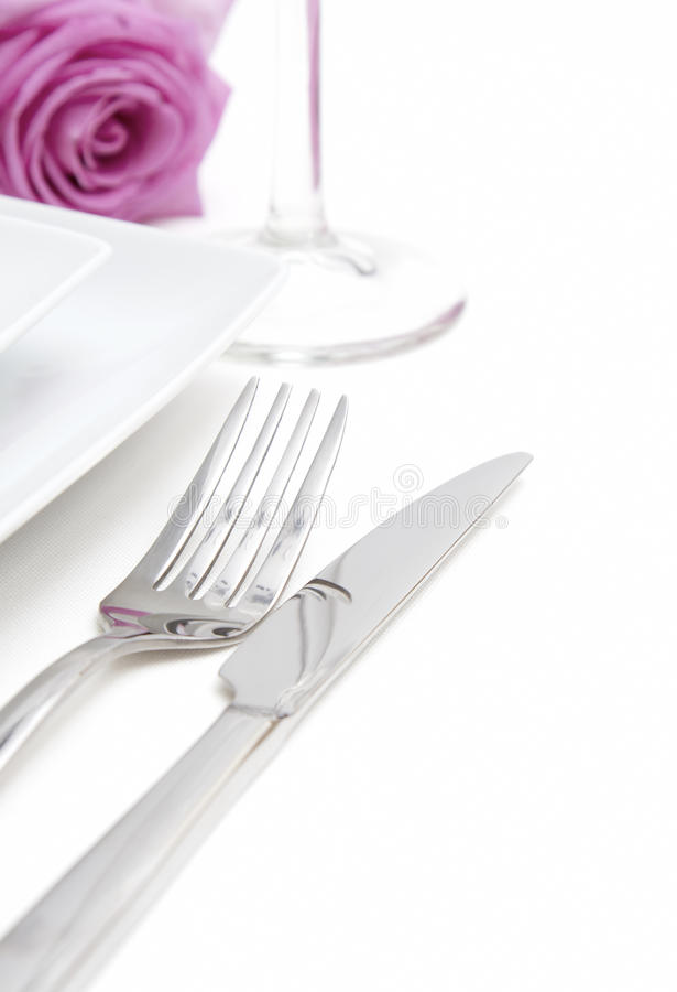 Free White Place Setting Stock Photography - 25574212