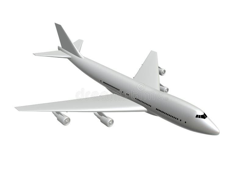 White plane vector illustration