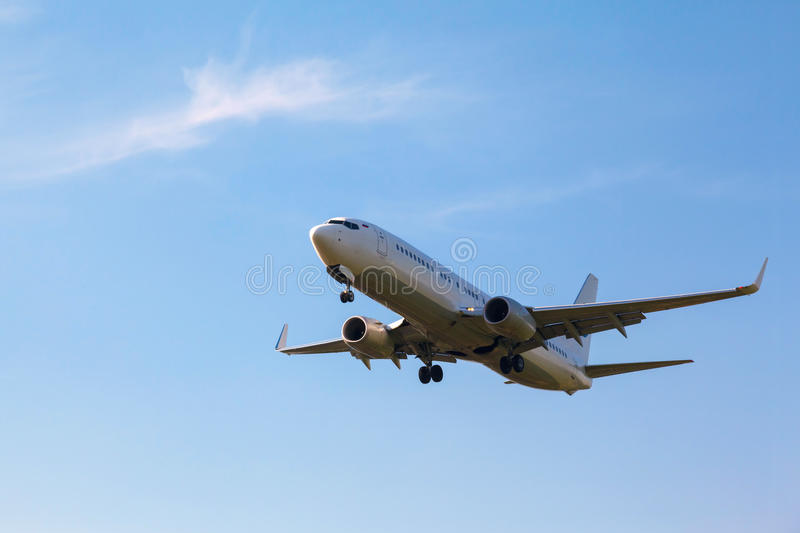 White Plane With The Gear Stock Images