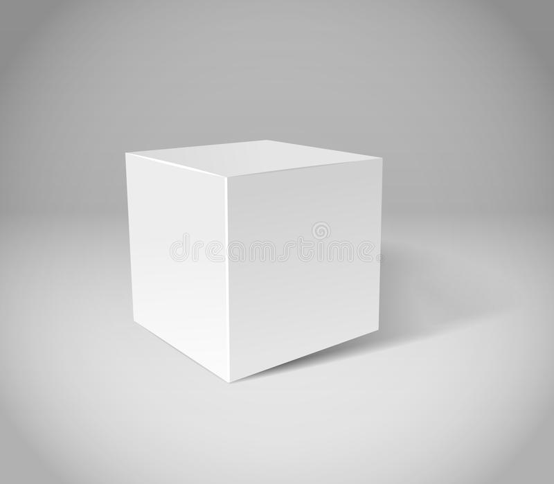 White Plaster Cube Stock Photography
