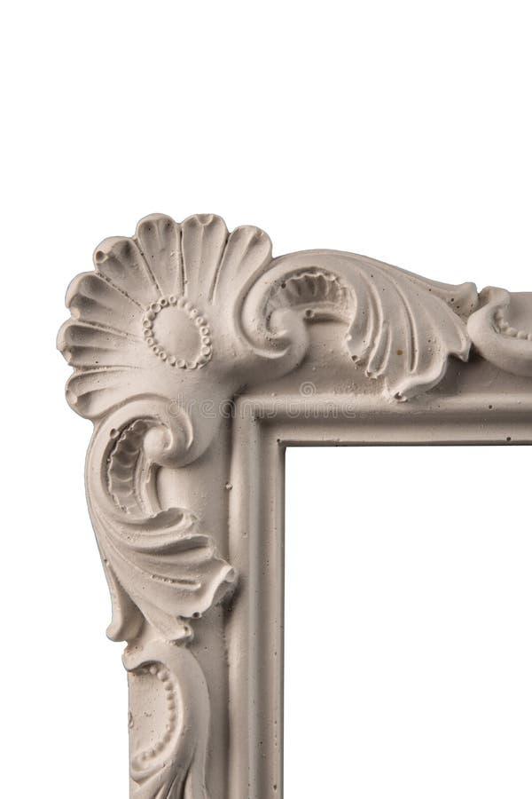 White plaster frames stock image. Image of design, metallic - 82357307