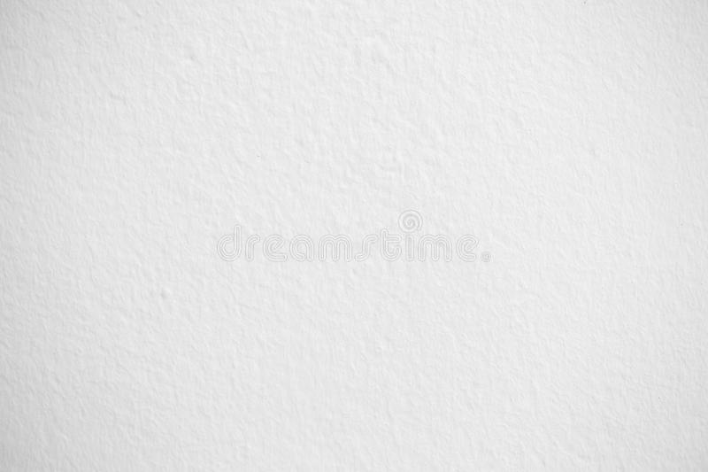 The white plastered wall.White brick wall for background or texture stock images