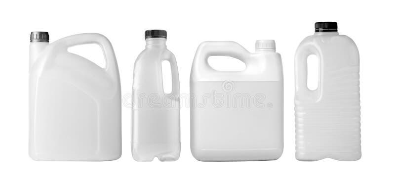 White plastic bottle royalty free stock photo