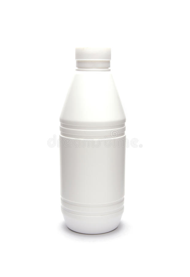 Download White Plastic Bottle Isolated On White Stock Photo - Image of product, lotion: 19046928