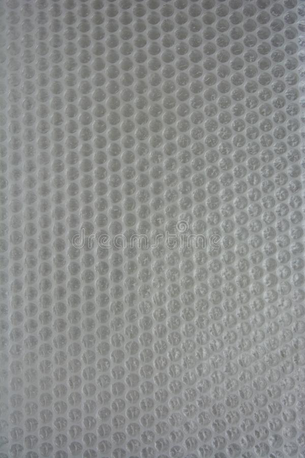 White plastic bubble wrap background royalty free stock images