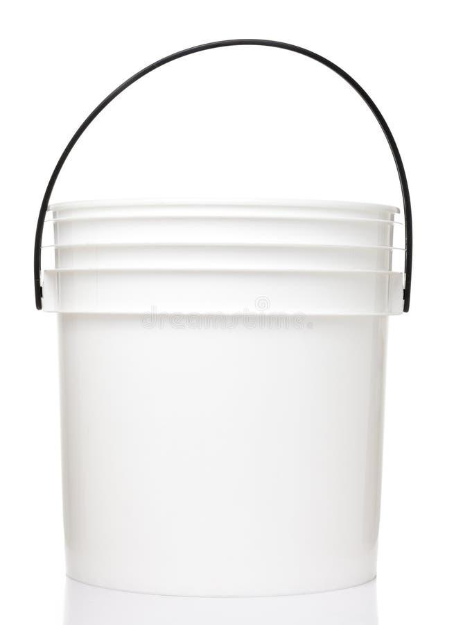 White Plastic Bucket stock image