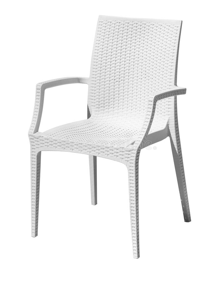 White plastic chair royalty free stock photography