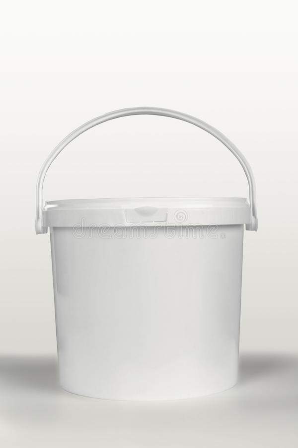 White plastic container stock image