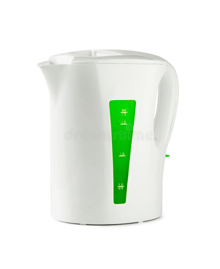 White plastic electric kettle stock photography