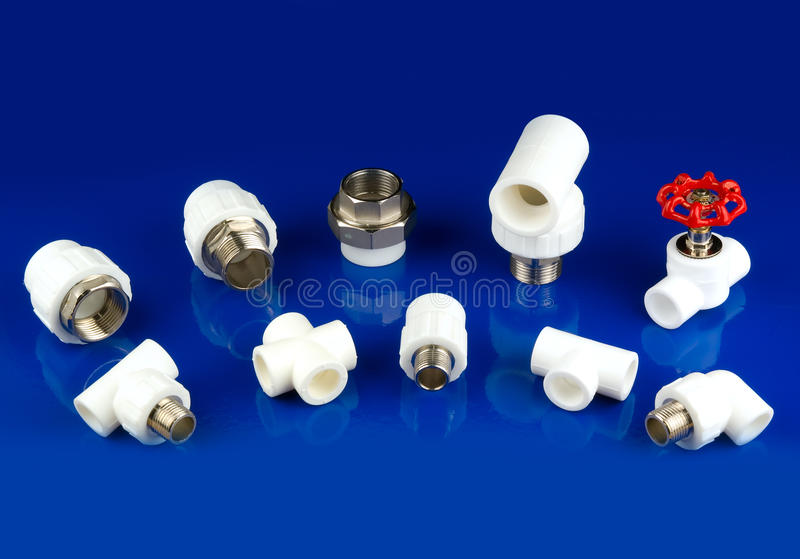 Download White plastic fittings stock photo. Image of real, elbow - 12131392