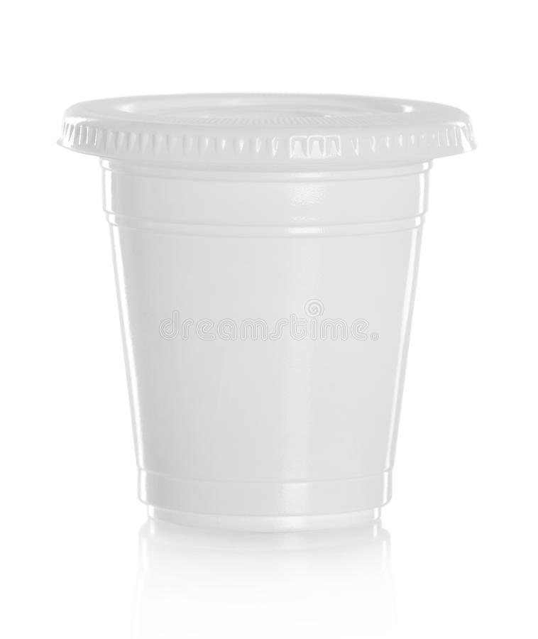 Free White Plastic Glass For Liquid Product Stock Images - 33872404