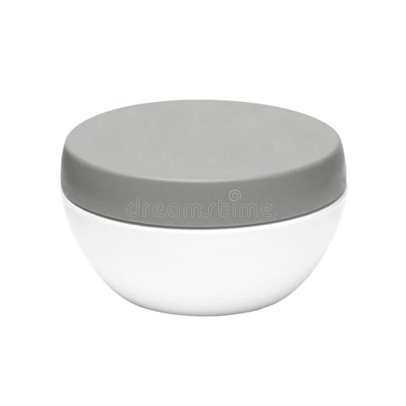 Download White Plastic Jar With A Dark Cap Stock Illustration - Image: 23600832