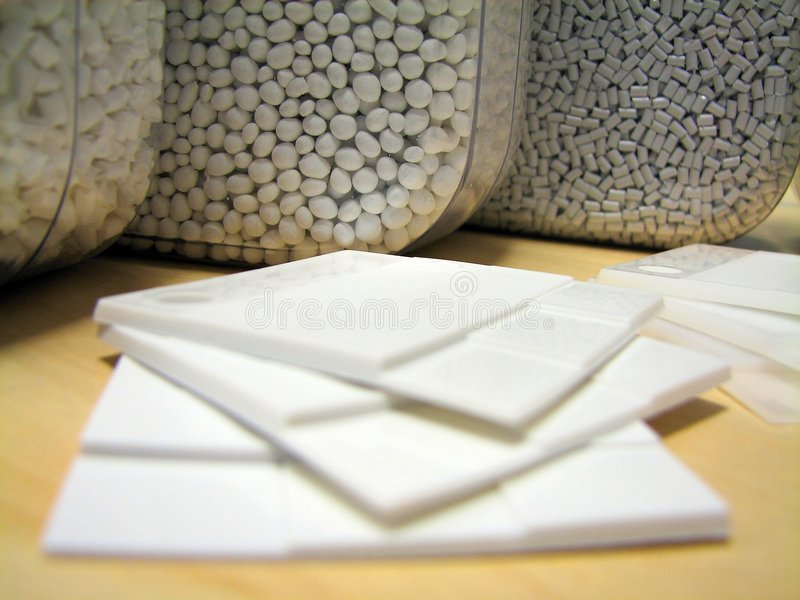 White plastic samples royalty free stock images