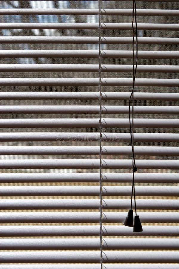 White plastic shades stock photography