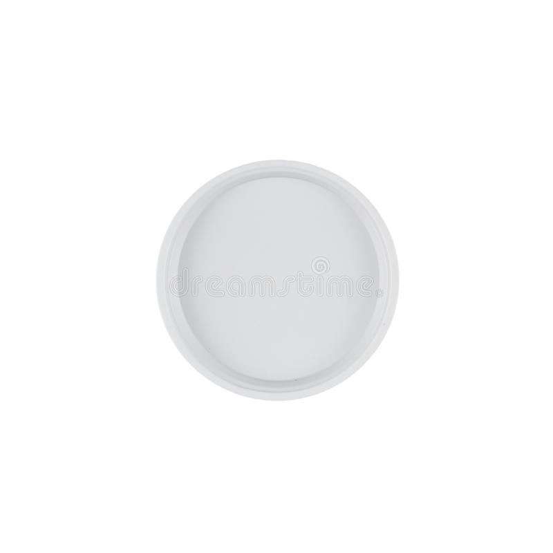 Download White Plastic Small Plate On White Background Stock Image - Image: 83708065