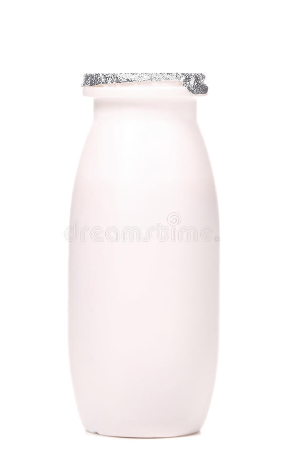 Download White Plastic Yogurt Bottle. Stock Photo - Image: 37045110