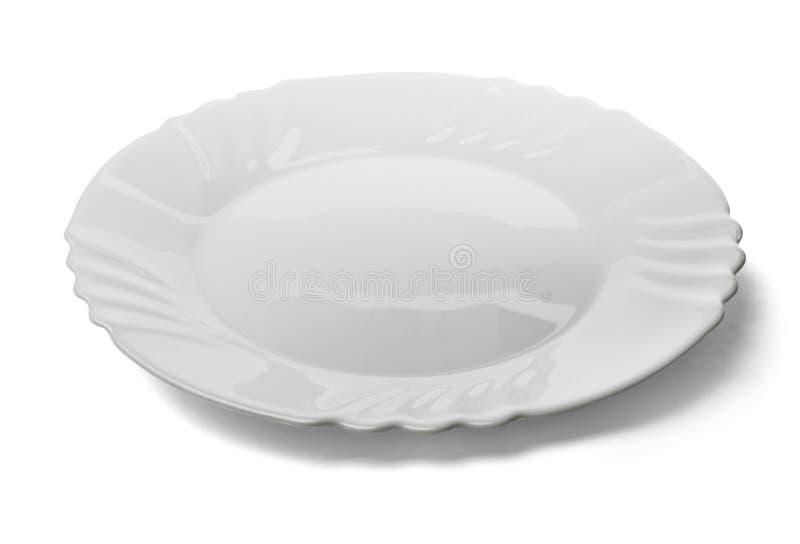White plate royalty free stock photos