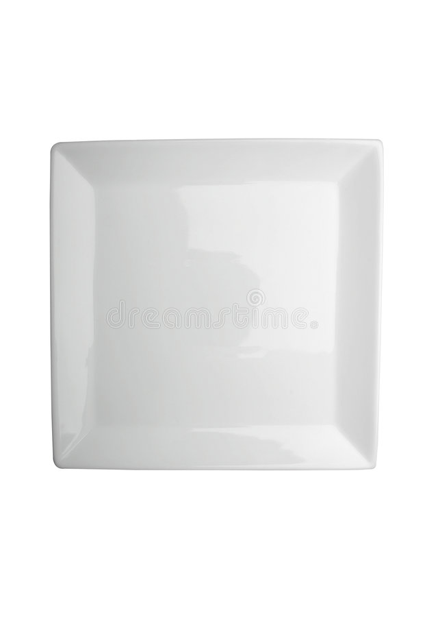 White plate royalty free stock image