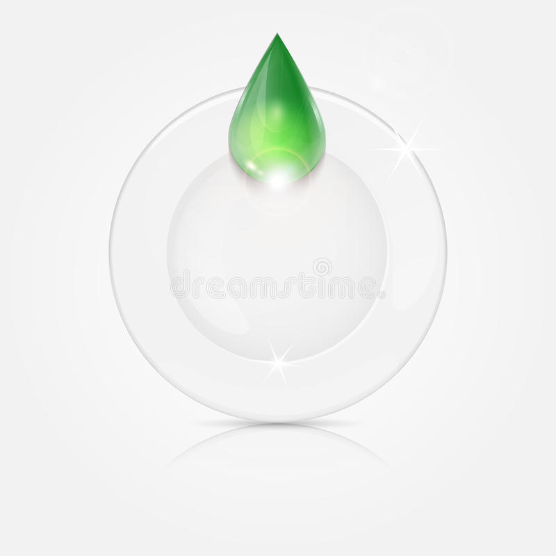 Free White Plate And Green Drop Royalty Free Stock Image - 40962406