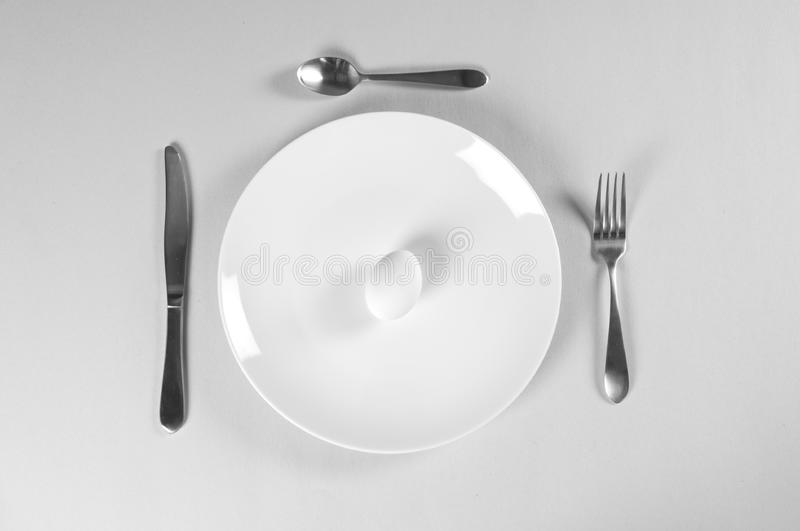 White Plate and Diet stock image