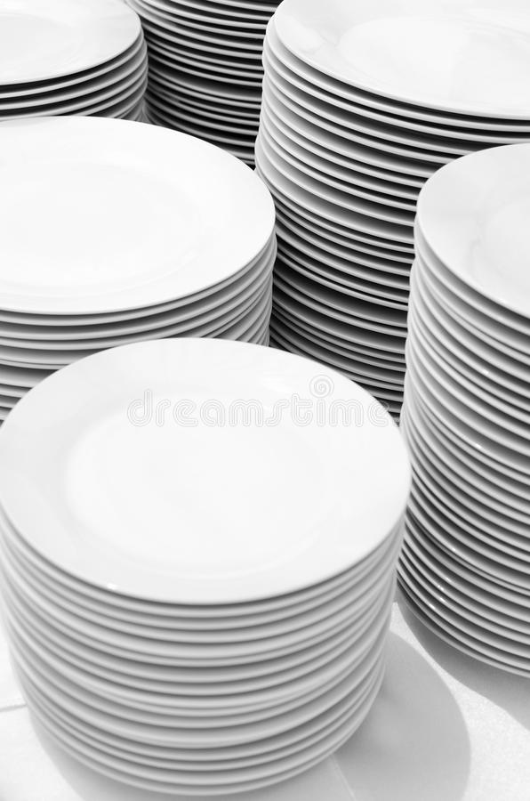 Download White plates stock image. Image of table, empty, group - 20375431