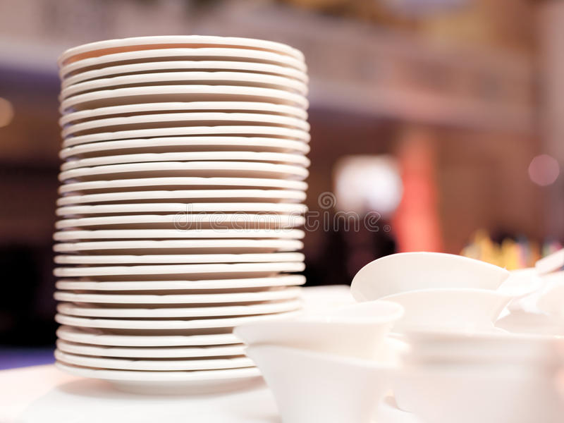 White plates royalty free stock images