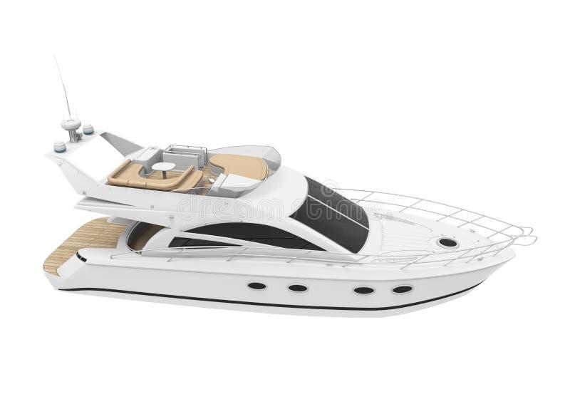White Pleasure Yacht stock illustration