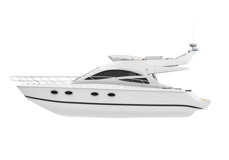 White Pleasure Yacht royalty free illustration