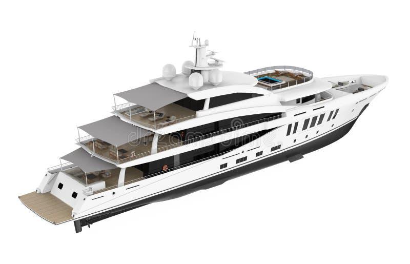 White Pleasure Yacht Isolated vector illustration