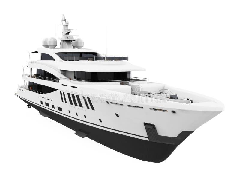 White Pleasure Yacht Isolated stock illustration