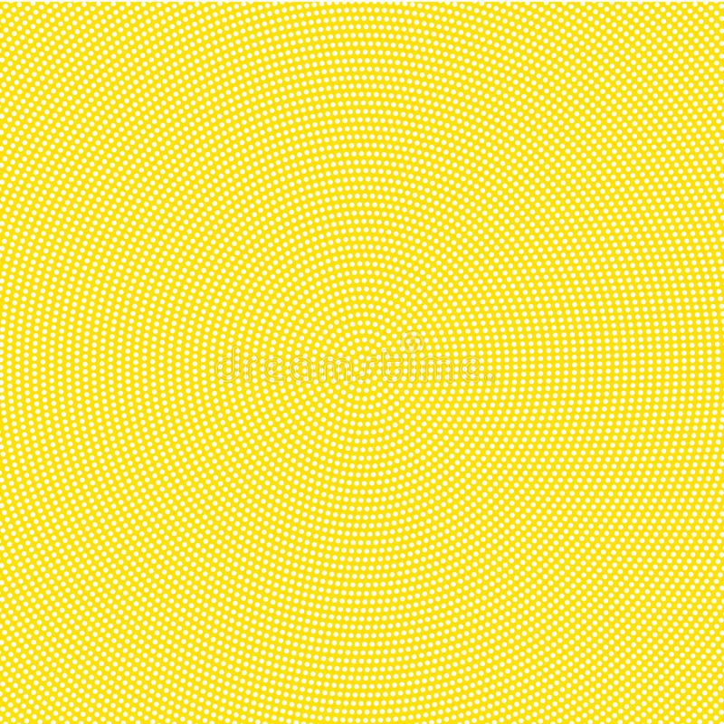White points on yellow background royalty free illustration
