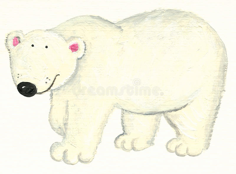 Download White Polar bear stock illustration. Image of outdoor - 12619610