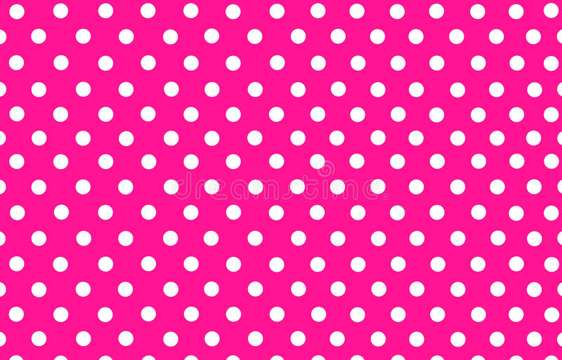 White polka dot with pink background vector illustration