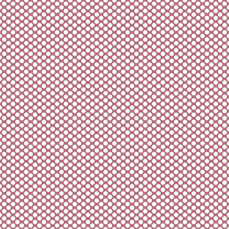 White Polka Dots on Blush Background, a Fun Dusty Rose Feminine Pattern. White polka dots on blush/mauve background. Classic pattern with a feminine touch of vector illustration