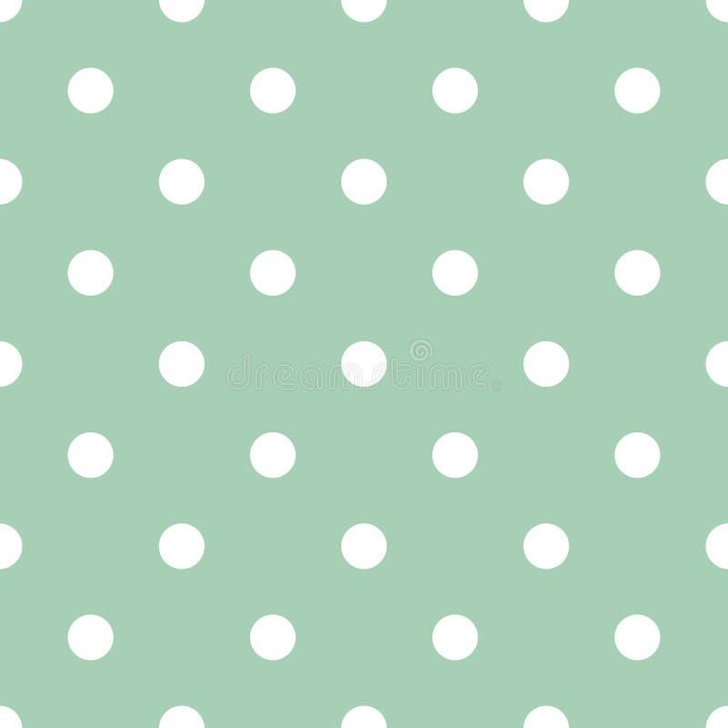 Free White Polka Dots On Mint Green Background Retro Seamless Vector Pattern Royalty Free Stock Photos - 165250898