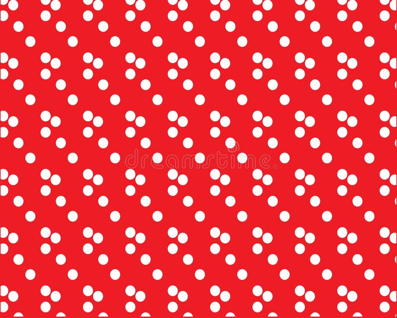 White polka dots on red background, cute background vector illustration
