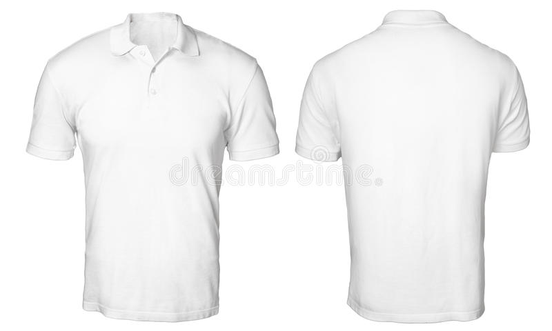 White polo shirt mock up stock photo image of male for Plain t shirt template