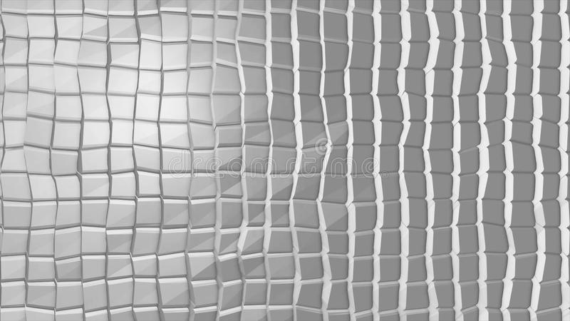 White polygonal geometric surface. Computer generated seamless loop abstract motion background.  royalty free stock photos