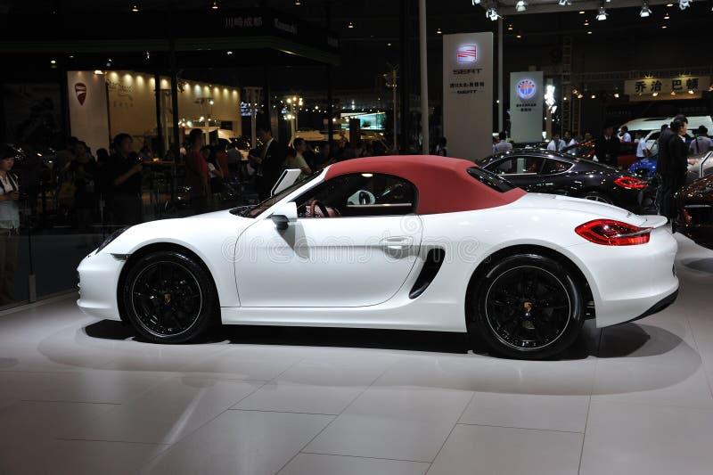 White Porsche boxster stock photos