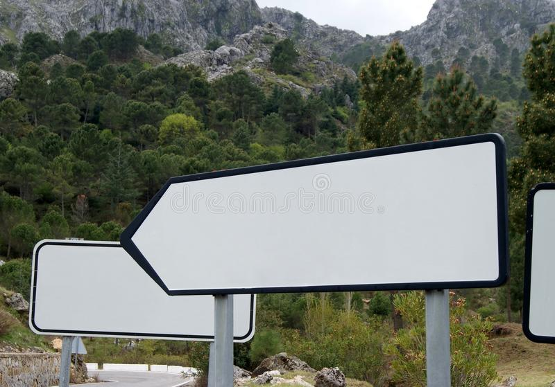 Download White Posters In The Mountain Stock Photo - Image: 25202466