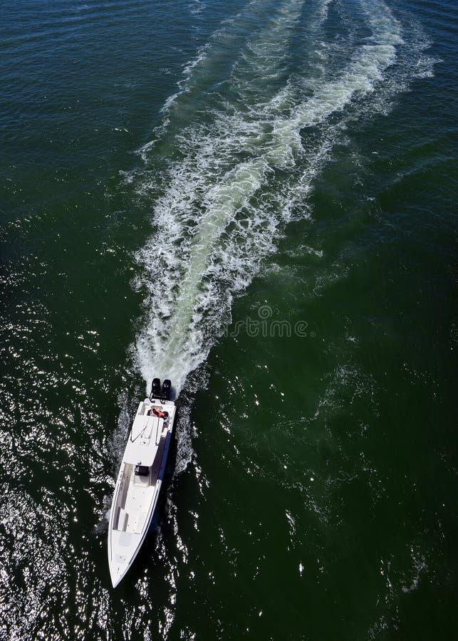 White Power Boat stock image