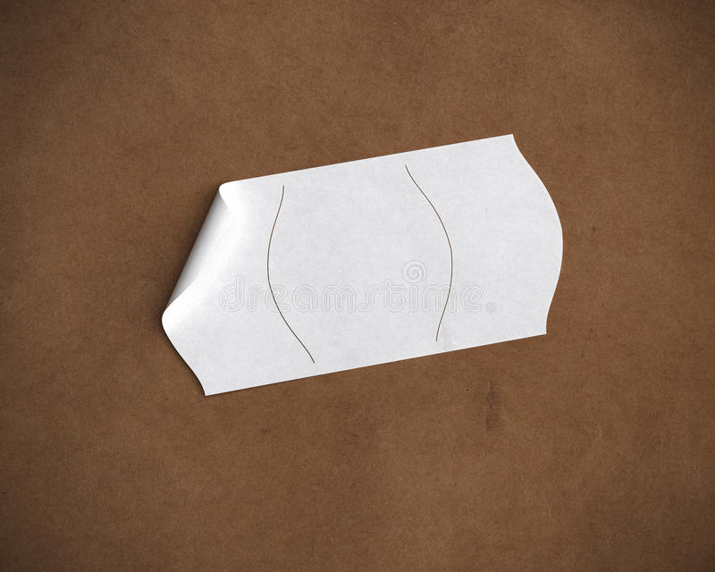 White Price Tag Stock Photography