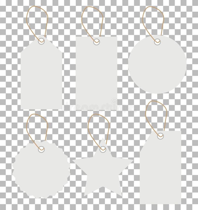 White price tags on transparent background. white price tags sign. flat style. price tags icon for your web site design, logo, ap. P, UI stock illustration