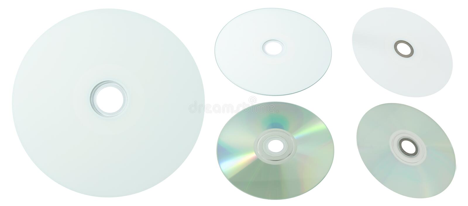 Printable CD and DVD Compact Disc on White Background royalty free stock photos