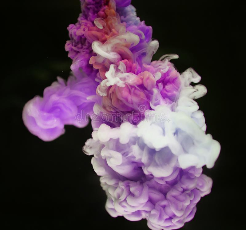 White and Purple Smoke Effect stock image